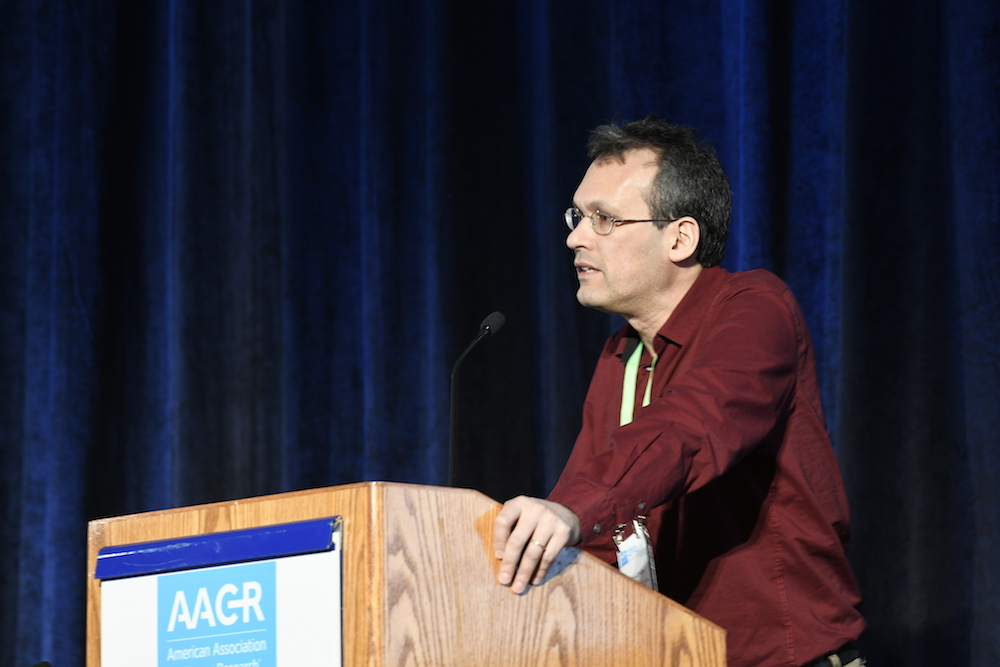 Nir Hacohen speaking at AACR18