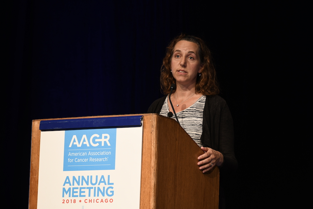 Susan Kaech speaking at AACR18